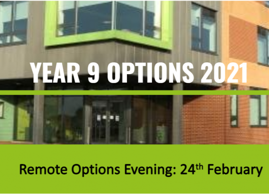 Y9 Options Evening